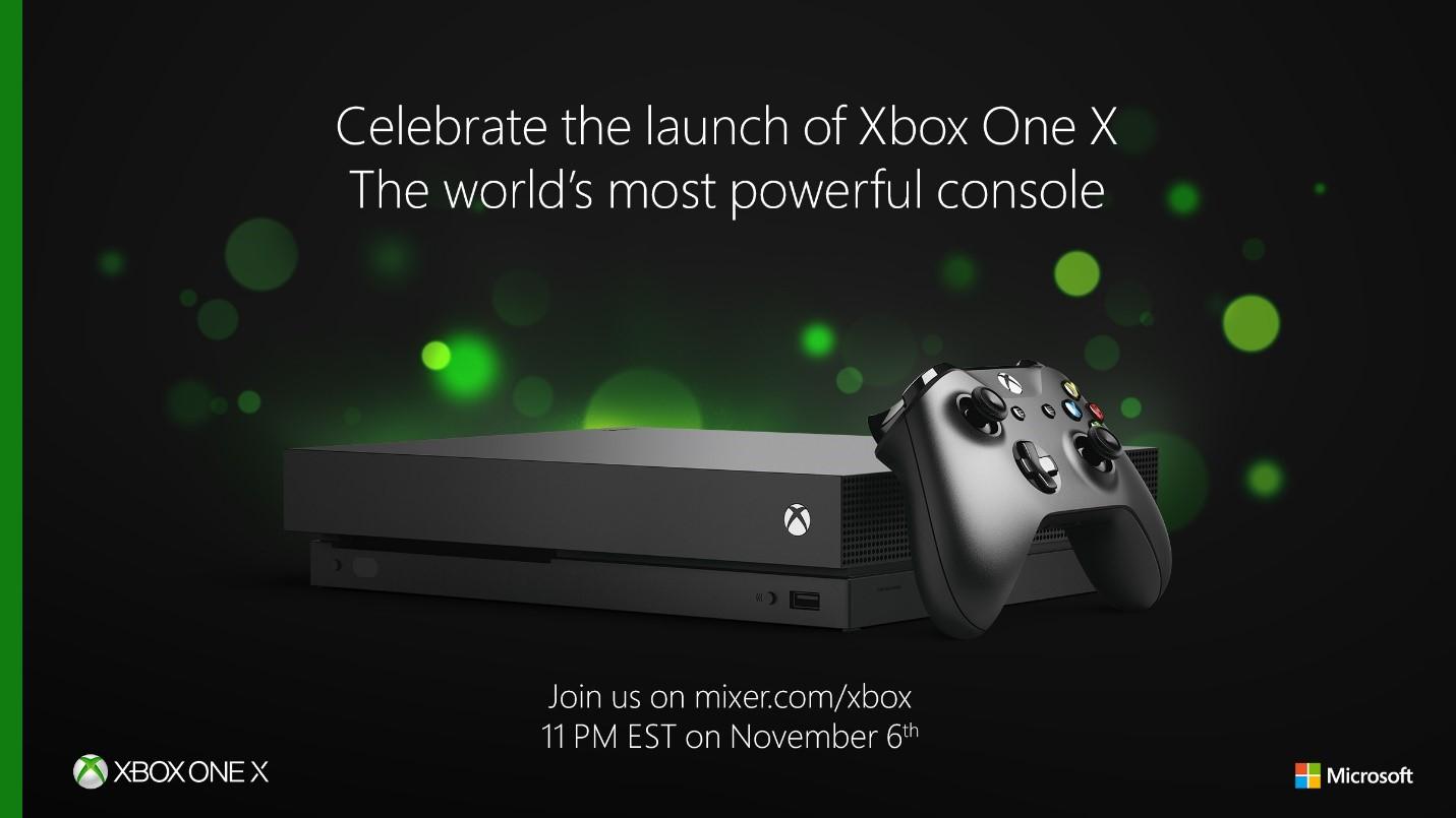 Acompanhe a festa de lançamento do Xbox One X Arena Xbox