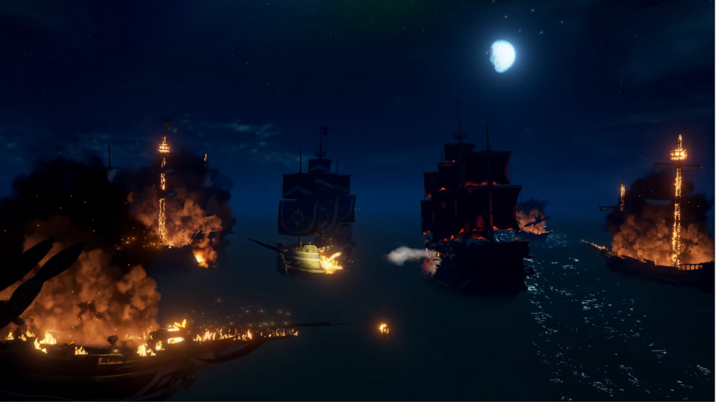 Sea of Thieves fire