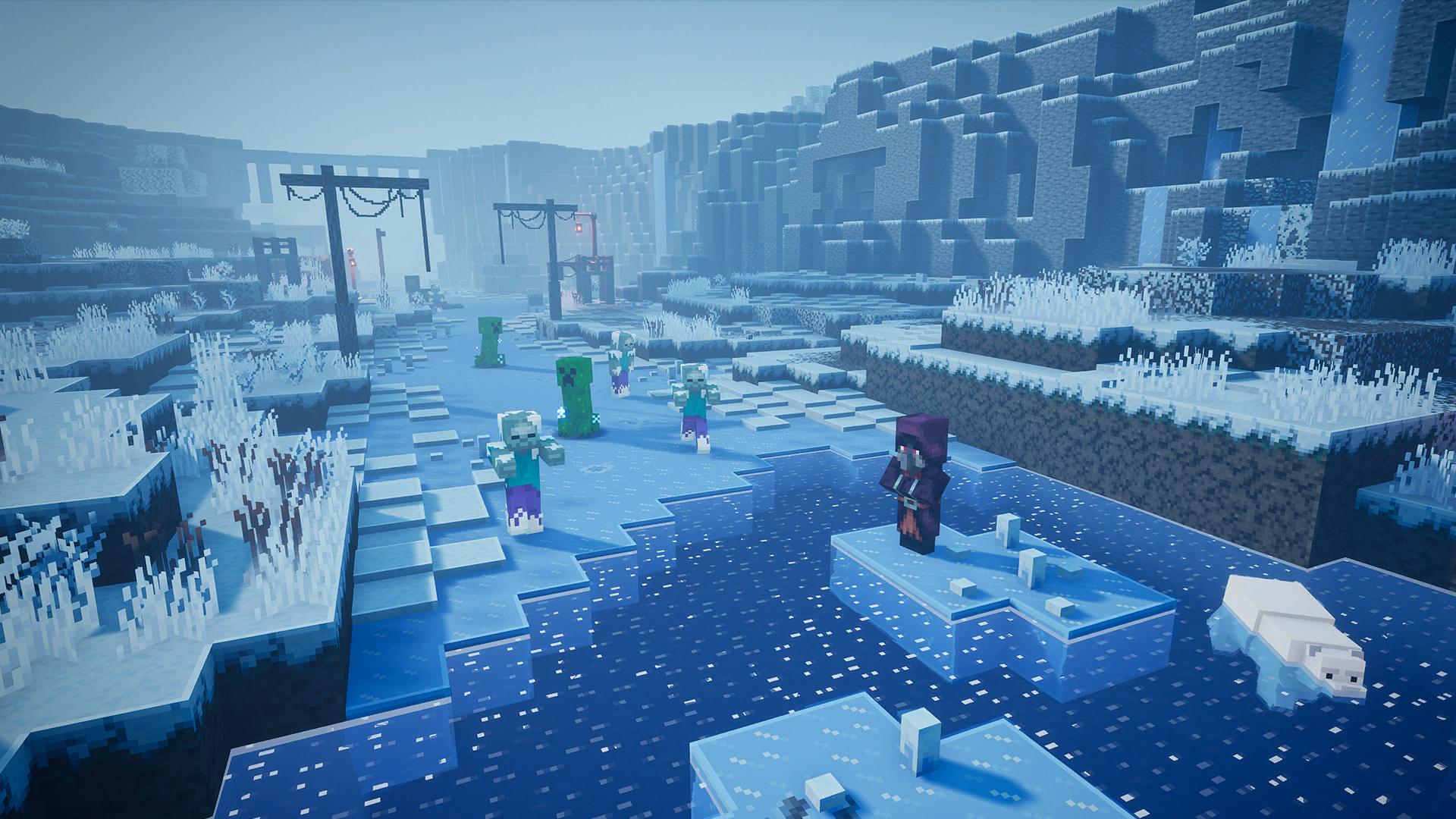 Minecraft Dungeon Creping Winter