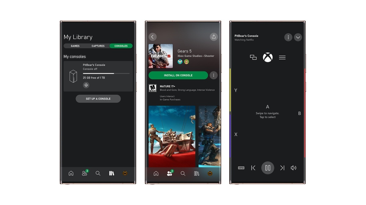 Xbox Mobile App Remote game management