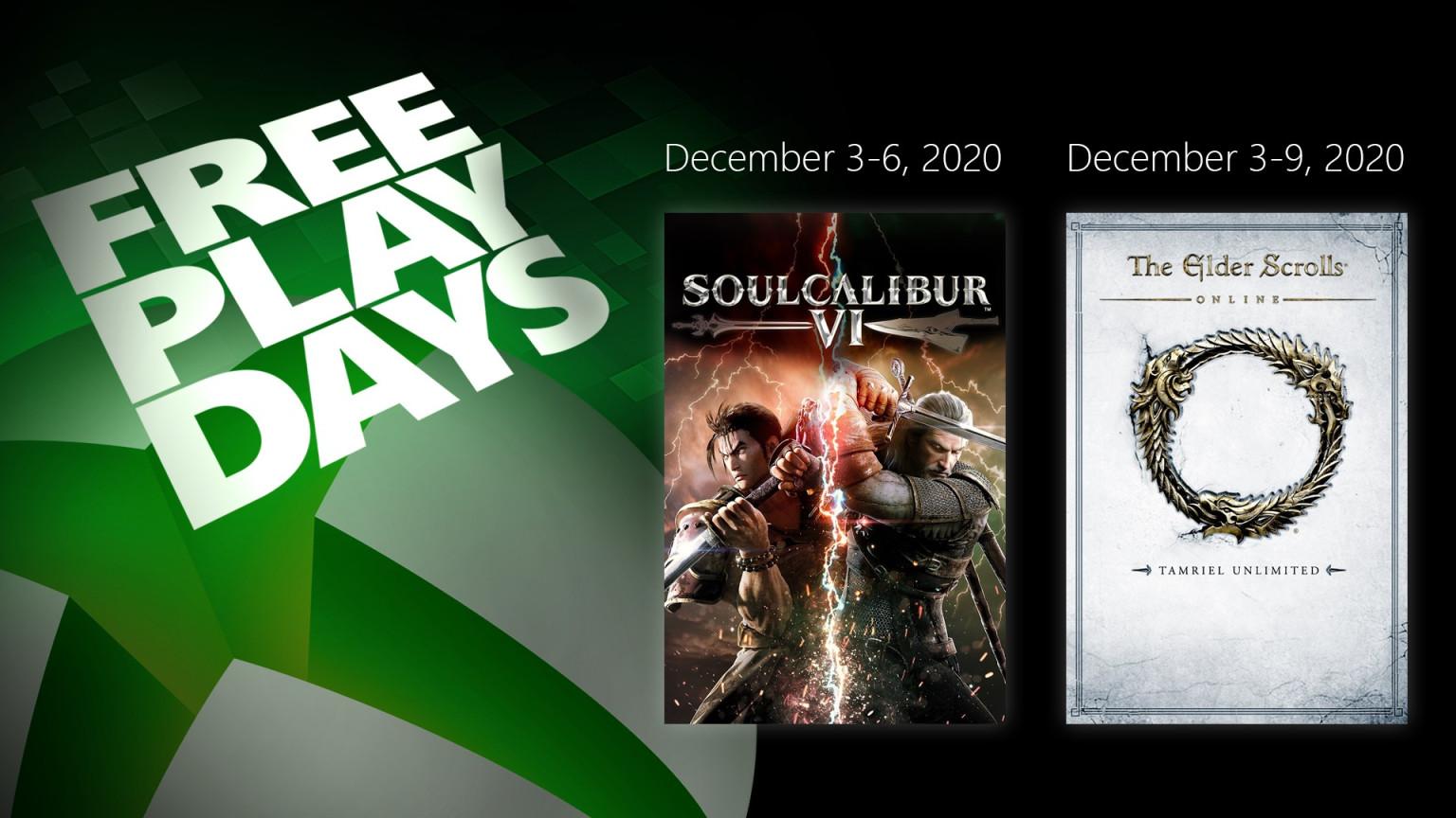 Free Play Days: 2 jogos disponíveis durante o final de semana